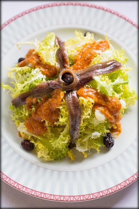 Avet Blau Restaurant Montseny Amanida de xató